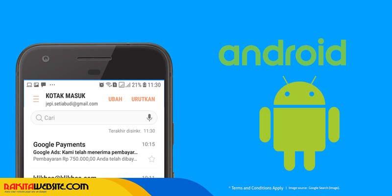 Cara Setting Email di Android Menggunakan Aplikasi Email Bawaan