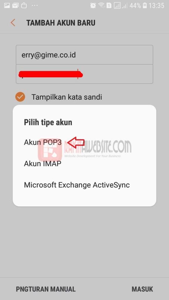 cara pasang email dengan aplikasi android bag 5