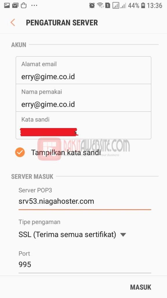 cara pasang email dengan aplikasi android bag 6