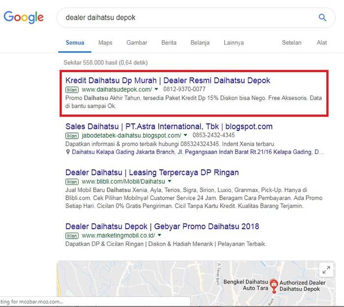 screen shoot jasa google adwords murah